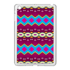 Rhombus and ovals chains                                                                                                              			Apple iPad Mini Case (White) by LalyLauraFLM