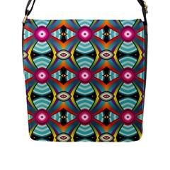 Targets Pattern                                                                                                                flap Closure Messenger Bag (l) by LalyLauraFLM