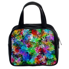 Colorful Strokes                                                                                                                Classic Handbag (two Sides) by LalyLauraFLM
