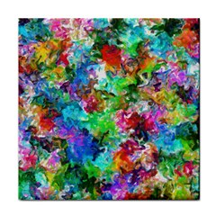 Colorful Strokes                                                                                                                			tile Coaster by LalyLauraFLM