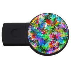Colorful Strokes                                                                                                                			usb Flash Drive Round (2 Gb) by LalyLauraFLM