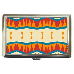 Mirrored shapes in retro colors                                                                                                                 Cigarette Money Case by LalyLauraFLM