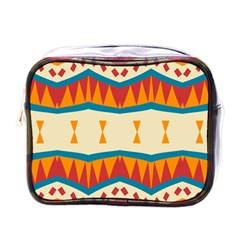 Mirrored Shapes In Retro Colors                                                                                                                 			mini Toiletries Bag (one Side) by LalyLauraFLM
