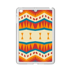 Mirrored Shapes In Retro Colors                                                                                                                			apple Ipad Mini 2 Case (white) by LalyLauraFLM