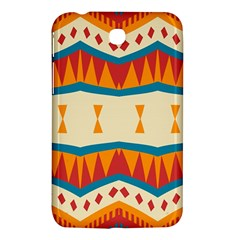 Mirrored Shapes In Retro Colors                                                                                                                samsung Galaxy Tab 3 (7 ) P3200 Hardshell Case by LalyLauraFLM