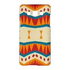 Mirrored Shapes In Retro Colors                                                                                                                samsung Galaxy A5 Hardshell Case by LalyLauraFLM