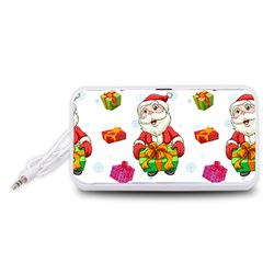 Xmas Patterns  Portable Speaker (White)  by Onesevenart