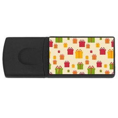 Christmas Gift Box Vector Seamless Pattern Vector Usb Flash Drive Rectangular (4 Gb)  by Onesevenart