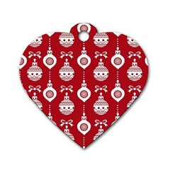 Abstract Christmas Seamless Background Vector Graphic Dog Tag Heart (two Sides) by Onesevenart