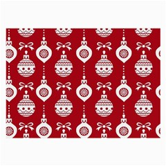 Abstract Christmas Seamless Background Vector Graphic Large Glasses Cloth (2 Side) by Onesevenart