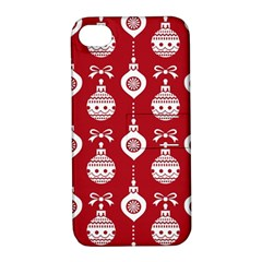 Abstract Christmas Seamless Background Vector Graphic Apple Iphone 4/4s Hardshell Case With Stand by Onesevenart