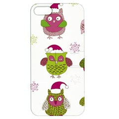 Cartoon Christmas Owl Cute Vector Apple Iphone 5 Hardshell Case With Stand by Onesevenart