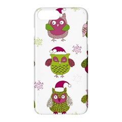 Cartoon Christmas Owl Cute Vector Apple Iphone 7 Plus Hardshell Case by Onesevenart