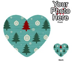 Christmas Tree With Snow Seamless Pattern Vector Multi Purpose Cards (heart)  by Onesevenart