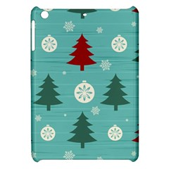 Christmas Tree With Snow Seamless Pattern Vector Apple Ipad Mini Hardshell Case by Onesevenart