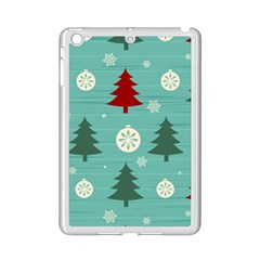 Christmas Tree With Snow Seamless Pattern Vector Ipad Mini 2 Enamel Coated Cases by Onesevenart