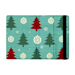 Christmas Tree With Snow Seamless Pattern Vector Ipad Mini 2 Flip Cases by Onesevenart