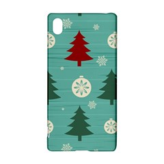 Christmas Tree With Snow Seamless Pattern Vector Sony Xperia Z3+ by Onesevenart