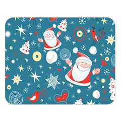 Christmas Stockings Vector Pattern Double Sided Flano Blanket (large)  by Onesevenart