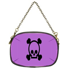 Cartoonskull Danger Chain Purses (one Side)  by AnjaniArt