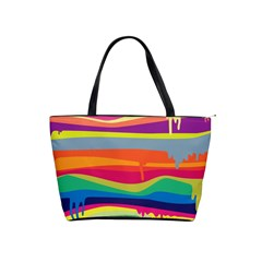 Colorfull Rainbow Shoulder Handbags by AnjaniArt