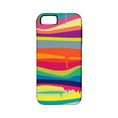 Colorfull Rainbow Apple Iphone 5 Classic Hardshell Case (pc+silicone) by AnjaniArt