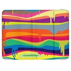 Colorfull Rainbow Samsung Galaxy Tab 7  P1000 Flip Case by AnjaniArt