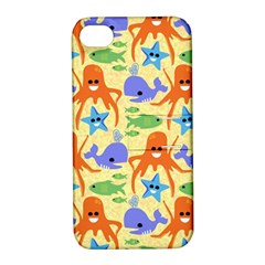 Calamari Squid Whale Apple Iphone 4/4s Hardshell Case With Stand by AnjaniArt
