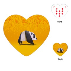 Cute Panda Playing Cards (heart)  by AnjaniArt