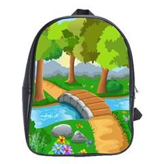 Cute Cartoon School Bags (xl)  by AnjaniArt