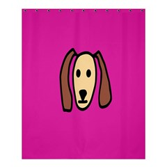 Face Dog Shower Curtain 60  X 72  (medium)  by AnjaniArt