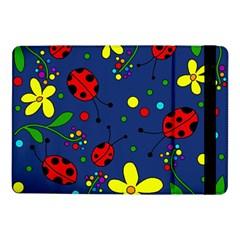 Ladybugs   Blue Samsung Galaxy Tab Pro 10 1  Flip Case by Valentinaart