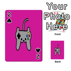 Game Pink Playing Cards 54 Designs  by AnjaniArt