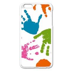Hand Apple Iphone 6 Plus/6s Plus Enamel White Case by AnjaniArt