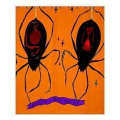Happy Hellpween Spider Shower Curtain 60  X 72  (medium)  by AnjaniArt