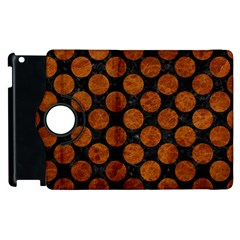 Circles2 Black Marble & Brown Marble Apple Ipad 2 Flip 360 Case by trendistuff
