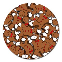 Christmas Candy Seamless Pattern Vectors Magnet 5  (round) by Onesevenart