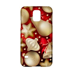 Christmas Baubles Seamless Pattern Vector Material Samsung Galaxy S5 Hardshell Case  by Onesevenart