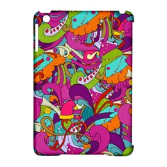Christmas Elements With Doodle Seamless Pattern Vector Apple Ipad Mini Hardshell Case (compatible With Smart Cover) by Onesevenart