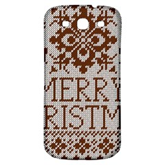 Christmas Elements With Knitted Pattern Vector Samsung Galaxy S3 S Iii Classic Hardshell Back Case by Onesevenart