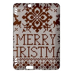 Christmas Elements With Knitted Pattern Vector Kindle Fire Hdx Hardshell Case by Onesevenart