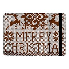 Christmas Elements With Knitted Pattern Vector Samsung Galaxy Tab Pro 10 1  Flip Case by Onesevenart