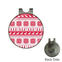 Christmas Patterns Hat Clips With Golf Markers by Onesevenart