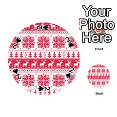 Christmas Patterns Playing Cards 54 (round)  by Onesevenart