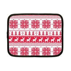 Christmas Patterns Netbook Case (Small)  by Onesevenart