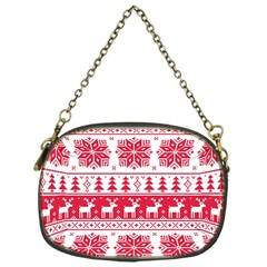 Christmas Patterns Chain Purses (One Side)  by Onesevenart