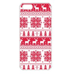 Christmas Patterns Apple Iphone 5 Seamless Case (white) by Onesevenart