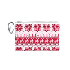 Christmas Patterns Canvas Cosmetic Bag (s) by Onesevenart