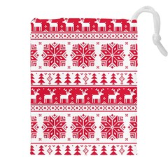 Christmas Patterns Drawstring Pouches (xxl) by Onesevenart
