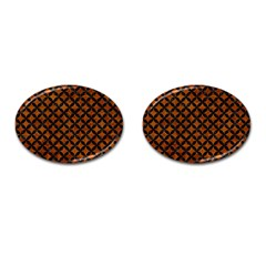 Circles3 Black Marble & Brown Marble (r) Cufflinks (oval) by trendistuff